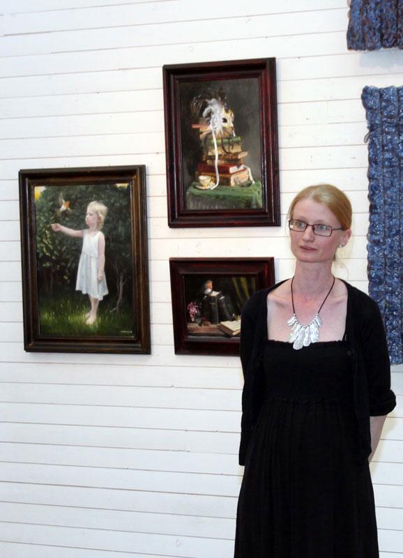 Elisabeth Andersson talade om sin klassiska målarteknik