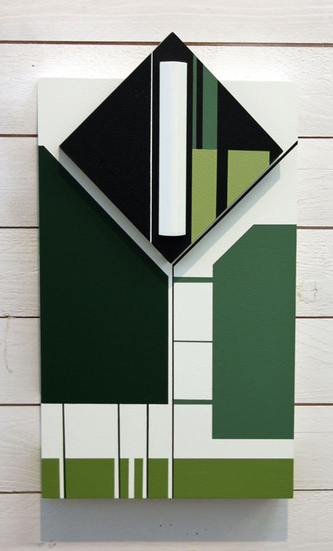 © Lilian Retamales / BUS 2015: SKOGENS GRÖNA TÅRAR II, akryl på trärelief, 45x25x7 cm